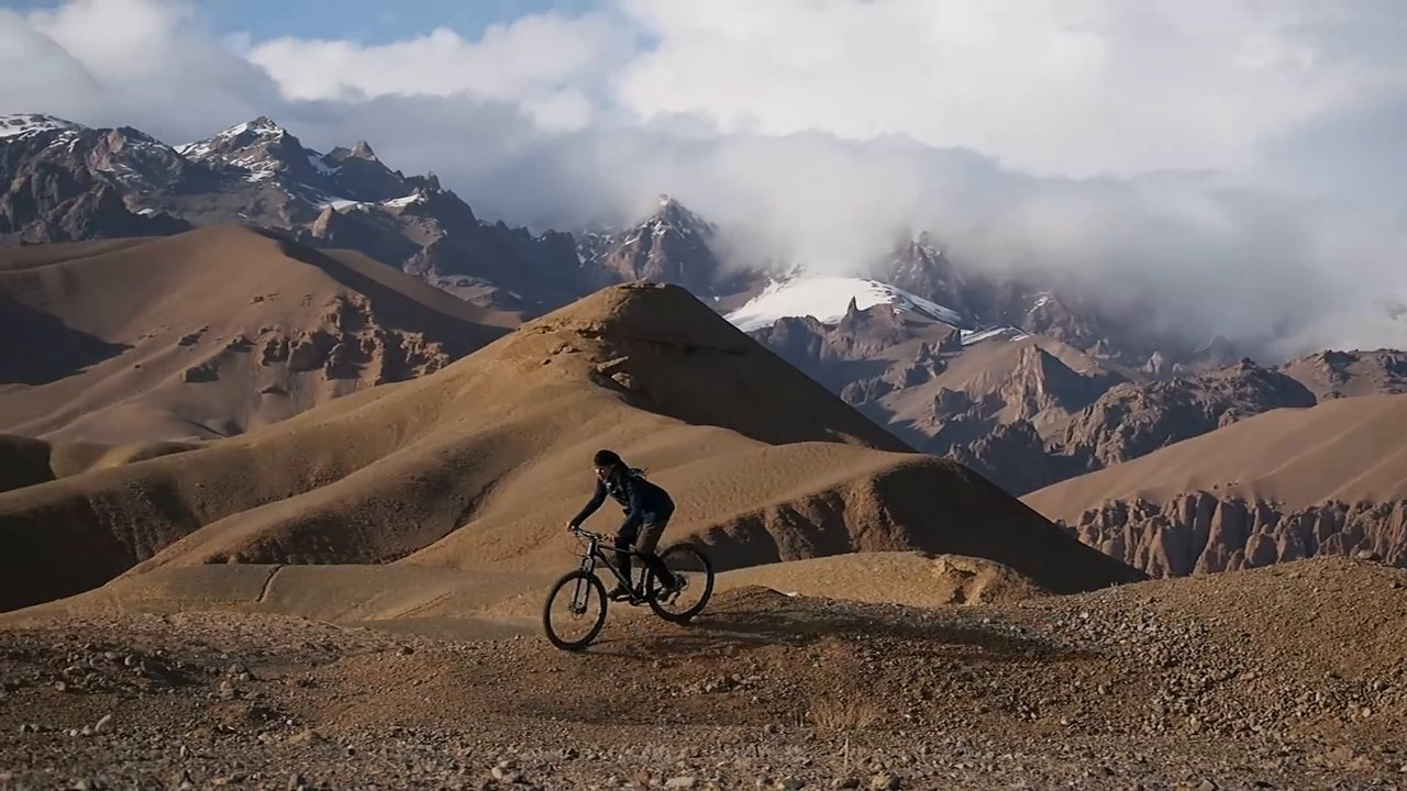 First female mountain biker in Afghanistan