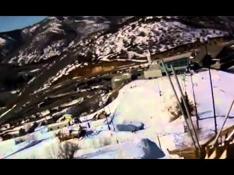 4th grade girl's first ski jump