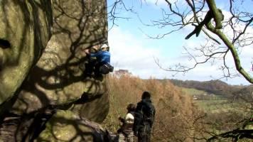 Committed II: Katy Whittaker Climbing Kaluza Klein, E7 6c. Robin Hood Stride.